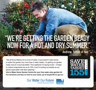 Target 155 Save Water Victorian Government DSE